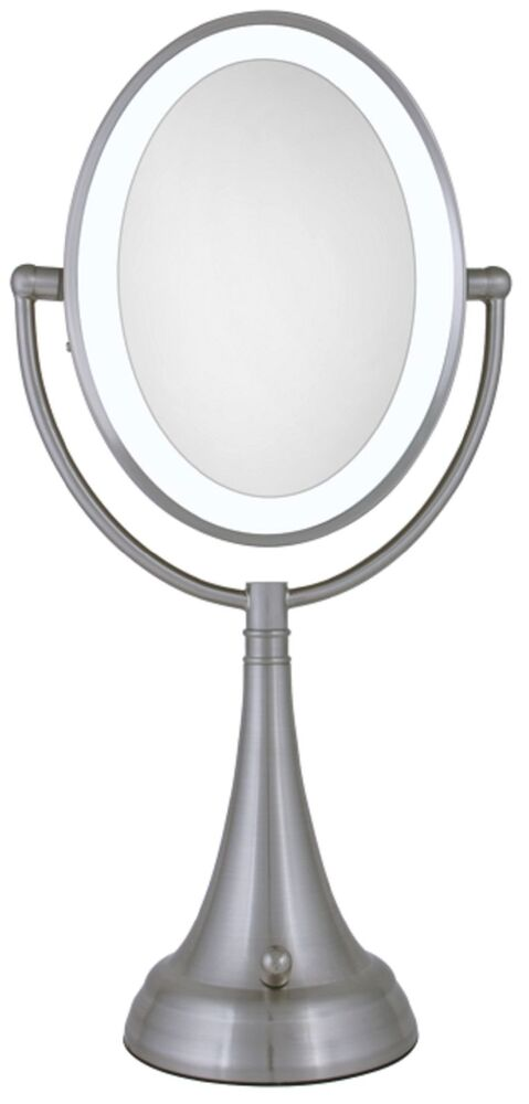 Zadro 10x 1x Cordless Corded Led Lighted Vanity Make Up