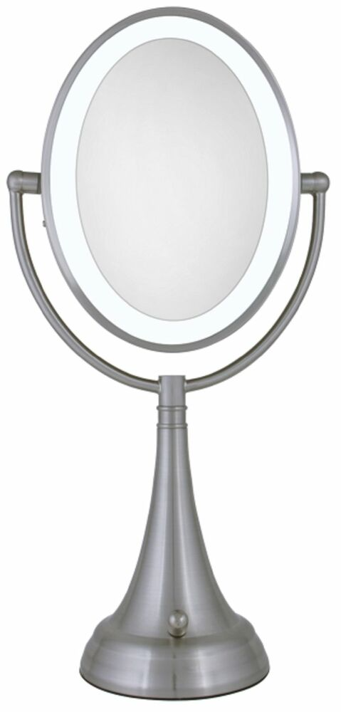 Zadro 10X/1X Cordless / Corded LED Lighted Vanity Make Up Mirror LEDOVLV410 NEW eBay