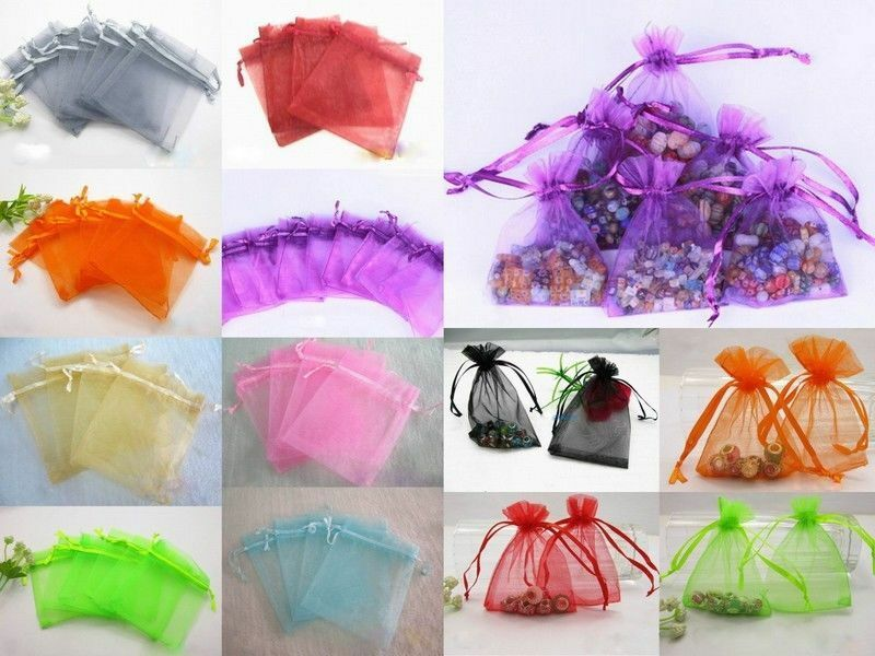 Gift Bags Bulk Wedding Uk : Wholesale Sheer Colors Organza Wedding Party Favor Gift Bags Jewelry ...