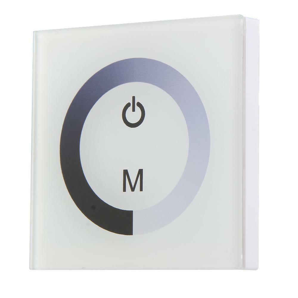 touch panel dimmer wall switch ring for white led light strip ebay. Black Bedroom Furniture Sets. Home Design Ideas