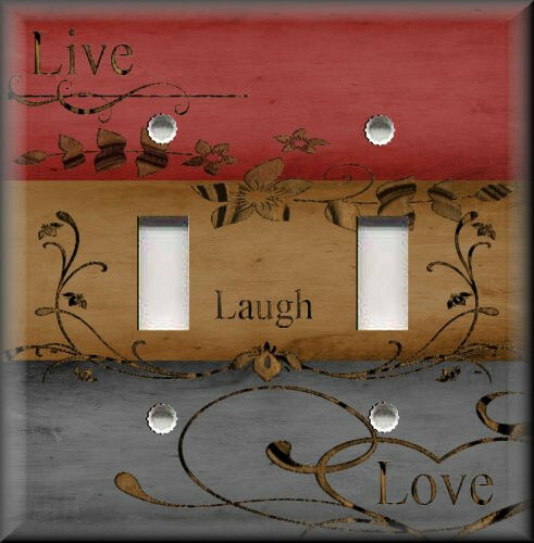 Light Switch Plate Cover Live Laugh Love Home Decor