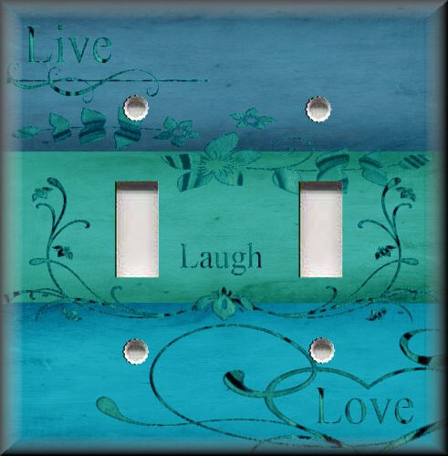Light switch plate cover live laugh love home decor for Home decor 2 love