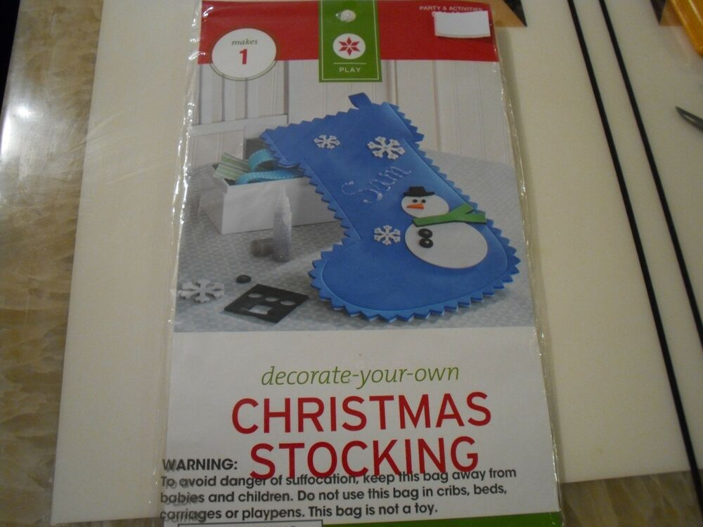 New Decorate Your Own Christmas Stocking Kit Foam