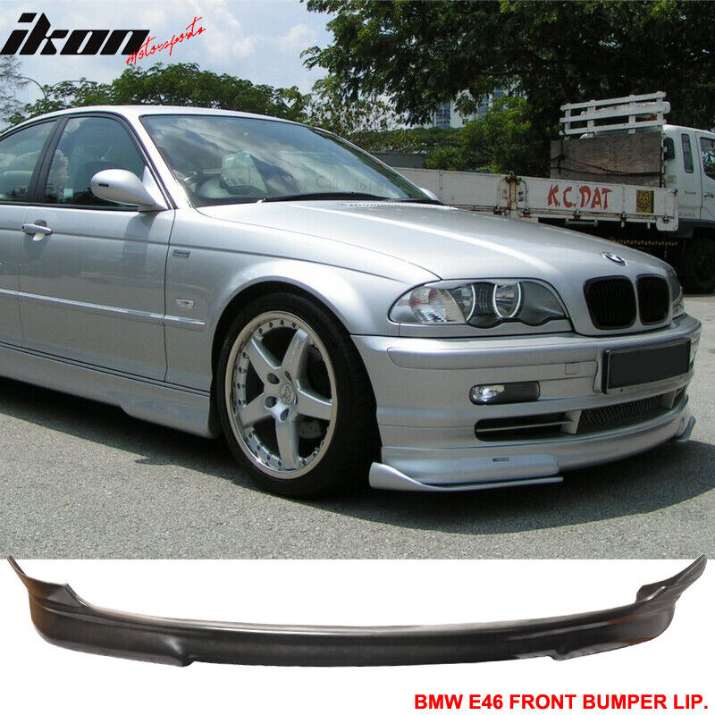 pu 99 03 bmw e46 3 series coupe urethane front bumper lip. Black Bedroom Furniture Sets. Home Design Ideas