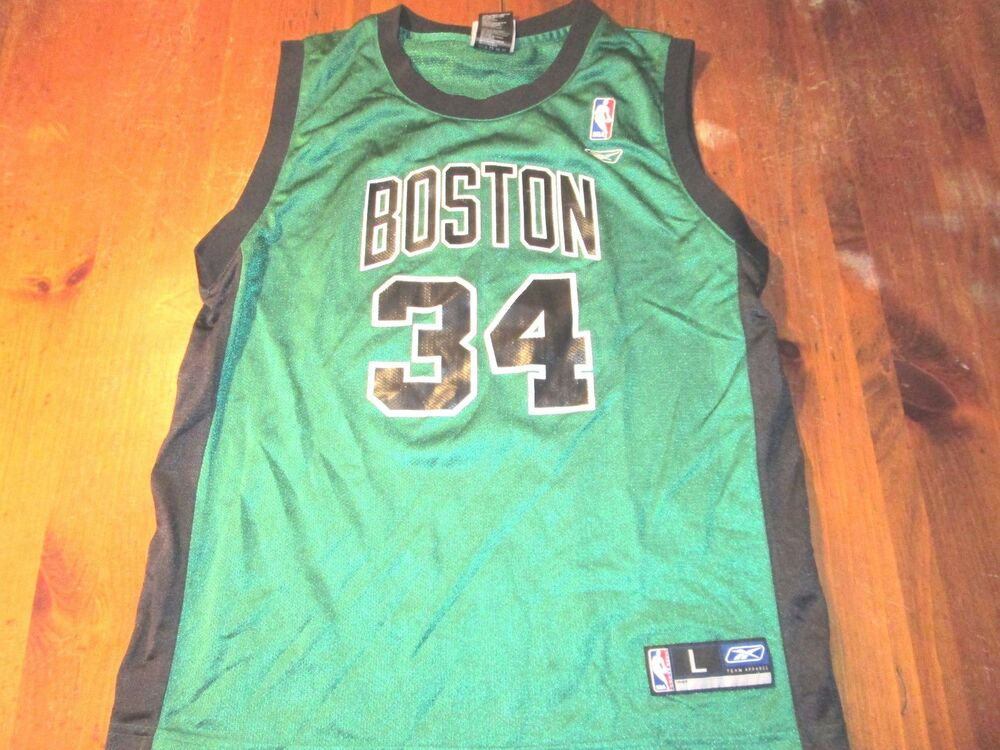 0021ec3e7 VINTAGE REEBOK NBA BOSTON CELTICS PAUL PIERCE ALTERNATE JERSEY SIZE YOUTH L