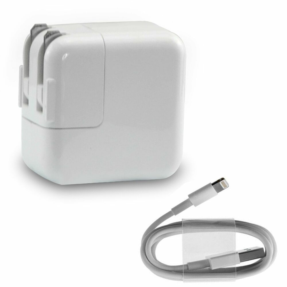 Lightning Cable+12W USB Wall Charger Adapter for Apple iPod iPad 1/2 iPhone 5/6 | eBay