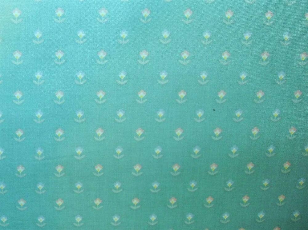 Easter Colors Small Floral Print New Drapery Curtain