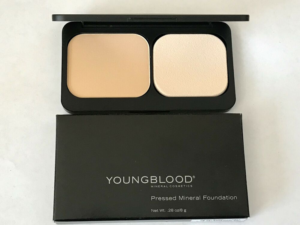 Youngblood Mineral Cosmetics Pressed Powder Foundation Compact BARELY BEIGE | eBay