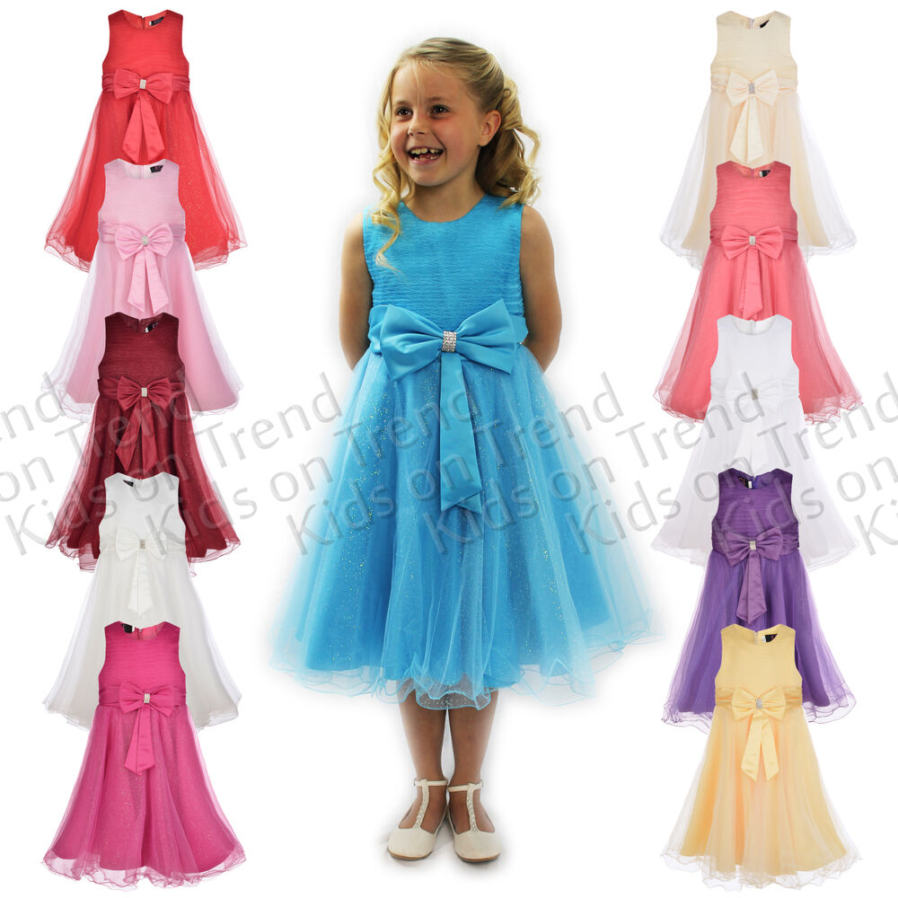 Girls party dress flower girl wedding bridesmaid age 2 3 4 for Wedding party dresses for women