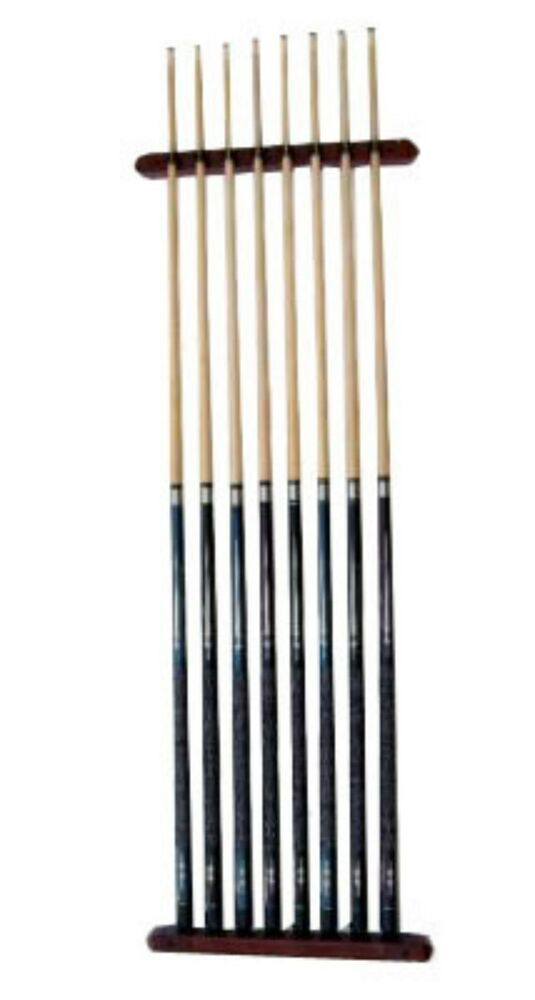 Cue Rack Only 8 Pool Billiard Stick Wall Rack