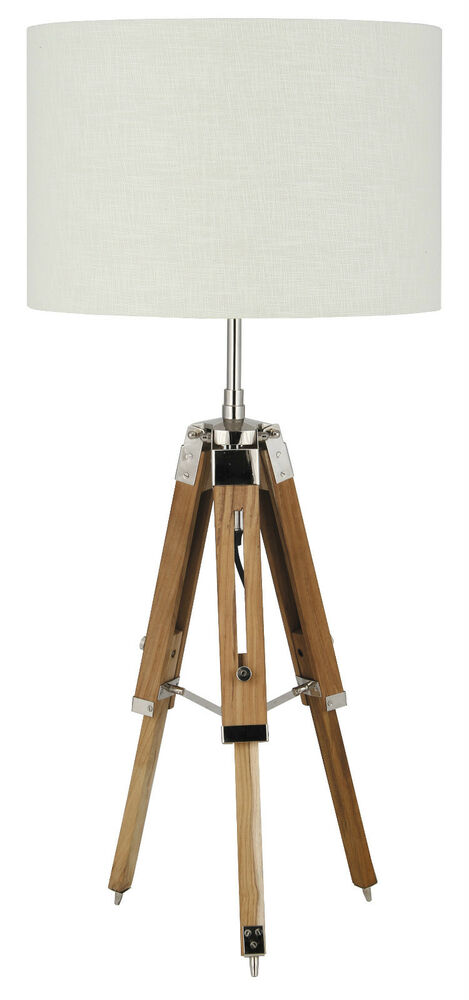 pacific lifestyle lighting natural wood tripod table lamp base only ebay. Black Bedroom Furniture Sets. Home Design Ideas