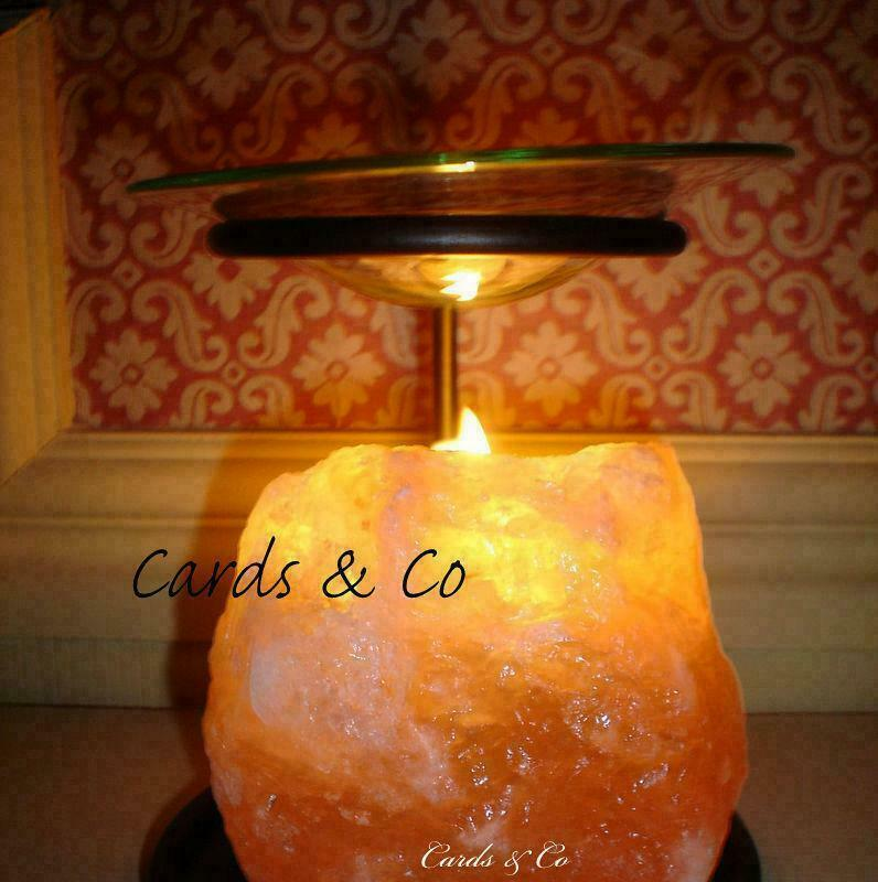HIMALAYAN Natural SALT Lamp OIL BURNER OR Wax Candle Tart Melts Warmer eBay