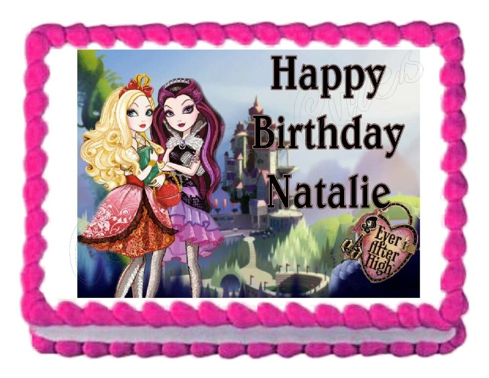 EVER AFTER HIGH edible party cake topper decoration cake ...