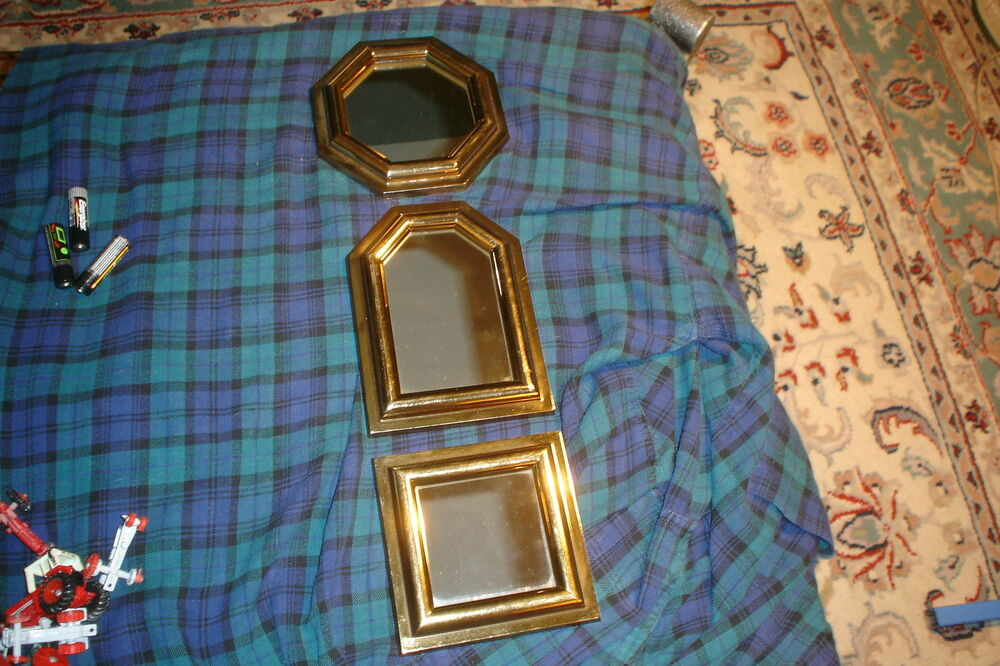 Vintage Burwood Decorative Mirror Wall Hanging Set Of