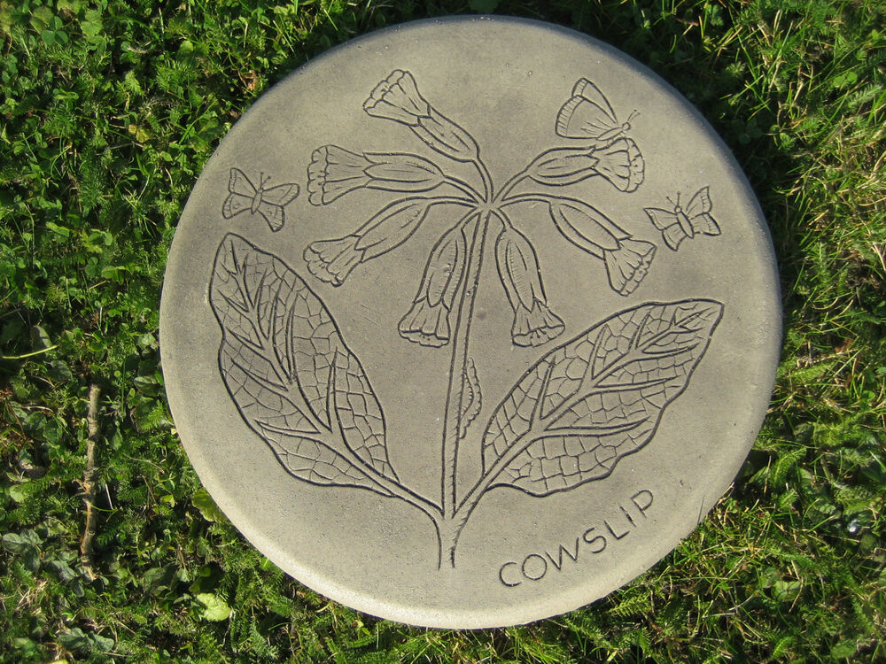 Stepping stone cowslip garden ornament 57 other designs for Garden stepping stone designs