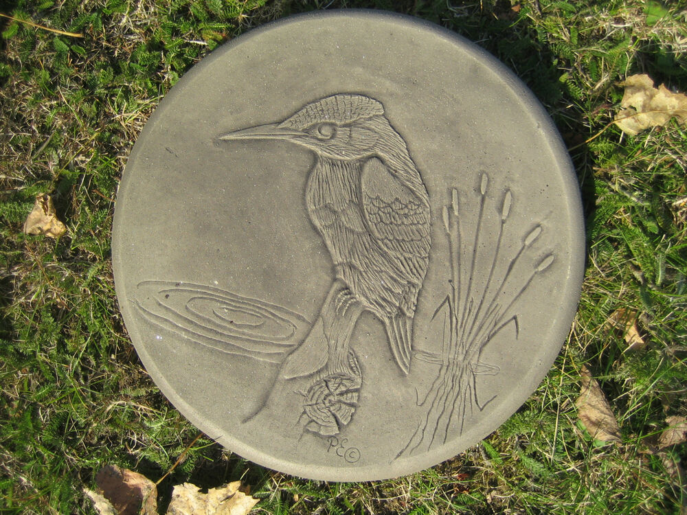 Stepping stone kingfisher garden ornament 57 other for Garden stepping stone designs