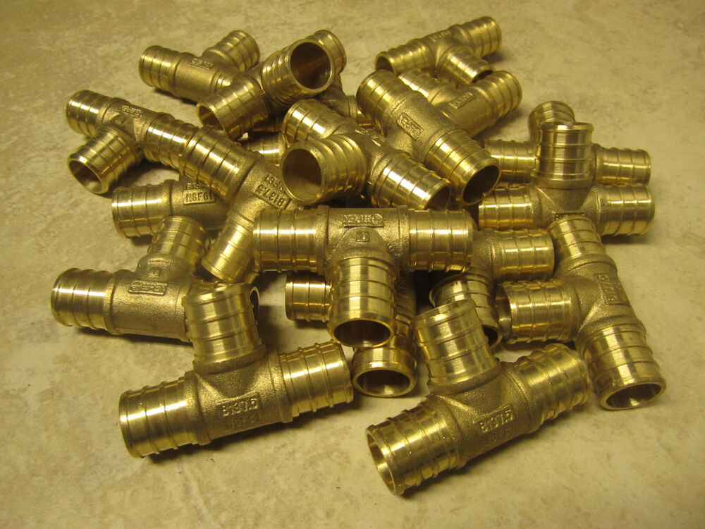 Pieces inch t pex brass plumbing pipe tube