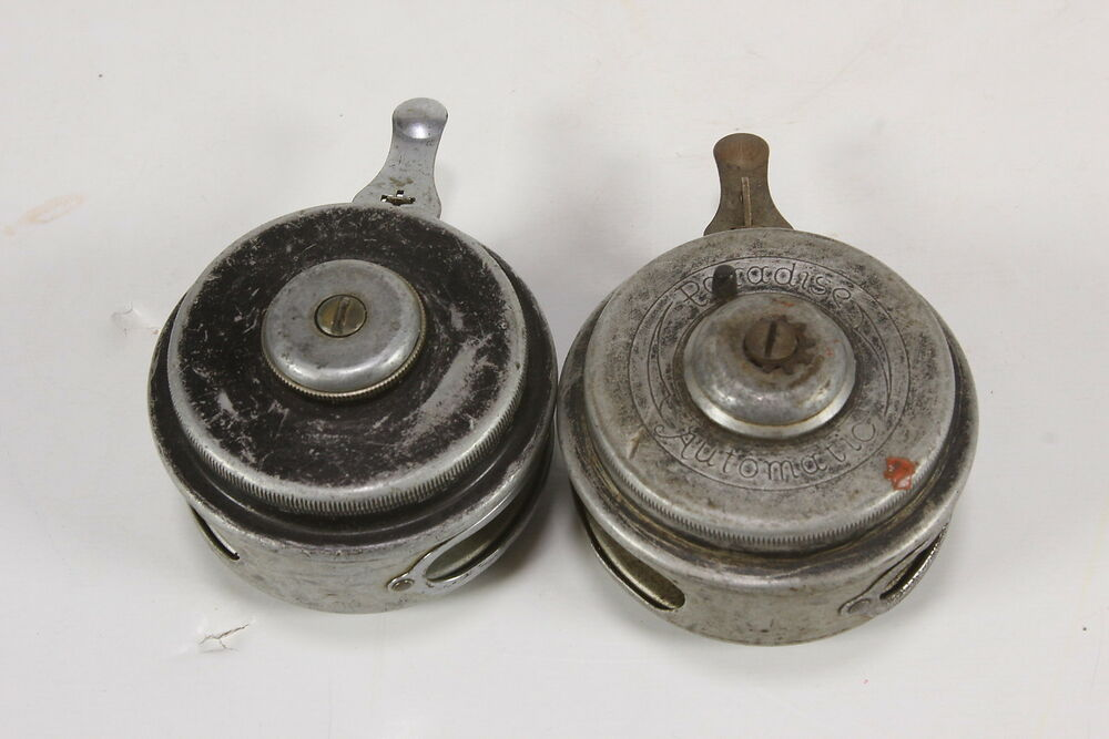 Lot of 2 vintage automatic fly fishing reels paradise for Fly fishing reels ebay