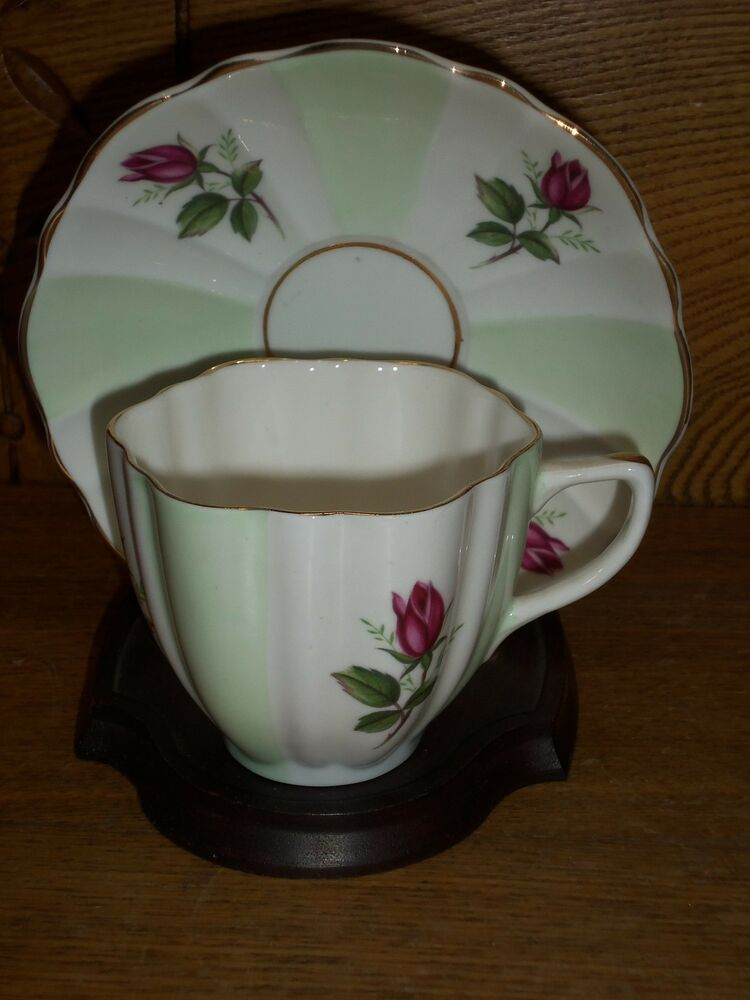 porcelain cup saucer crownford fine bone china england ebay. Black Bedroom Furniture Sets. Home Design Ideas