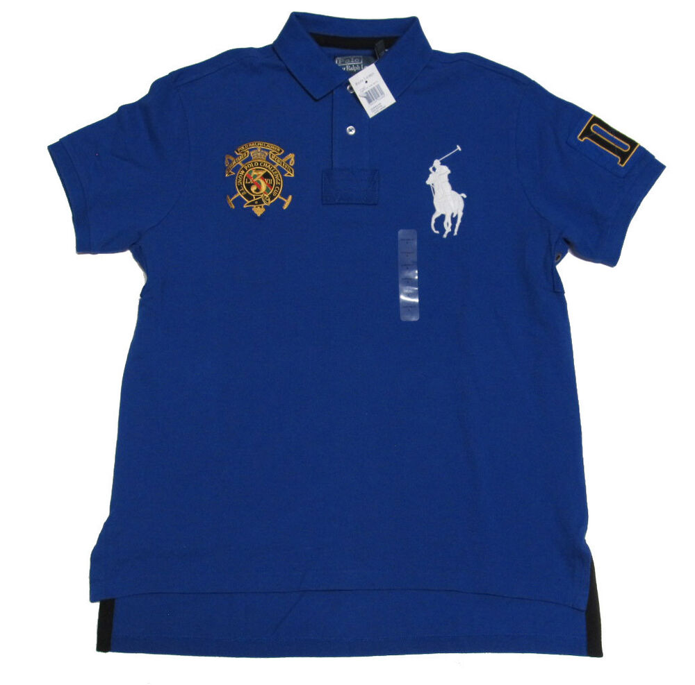 125 polo ralph lauren mens slim custom fit snow challenge for Mens slim polo shirts