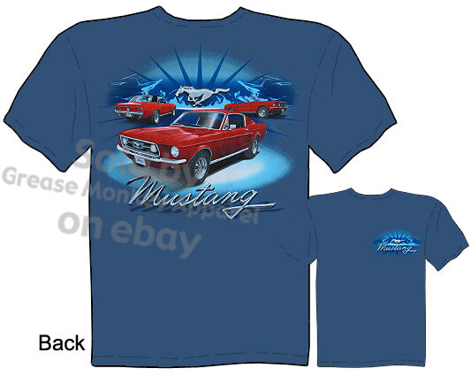 ford shirt mustang apparel ford mustang t shirts 1965 1966. Black Bedroom Furniture Sets. Home Design Ideas