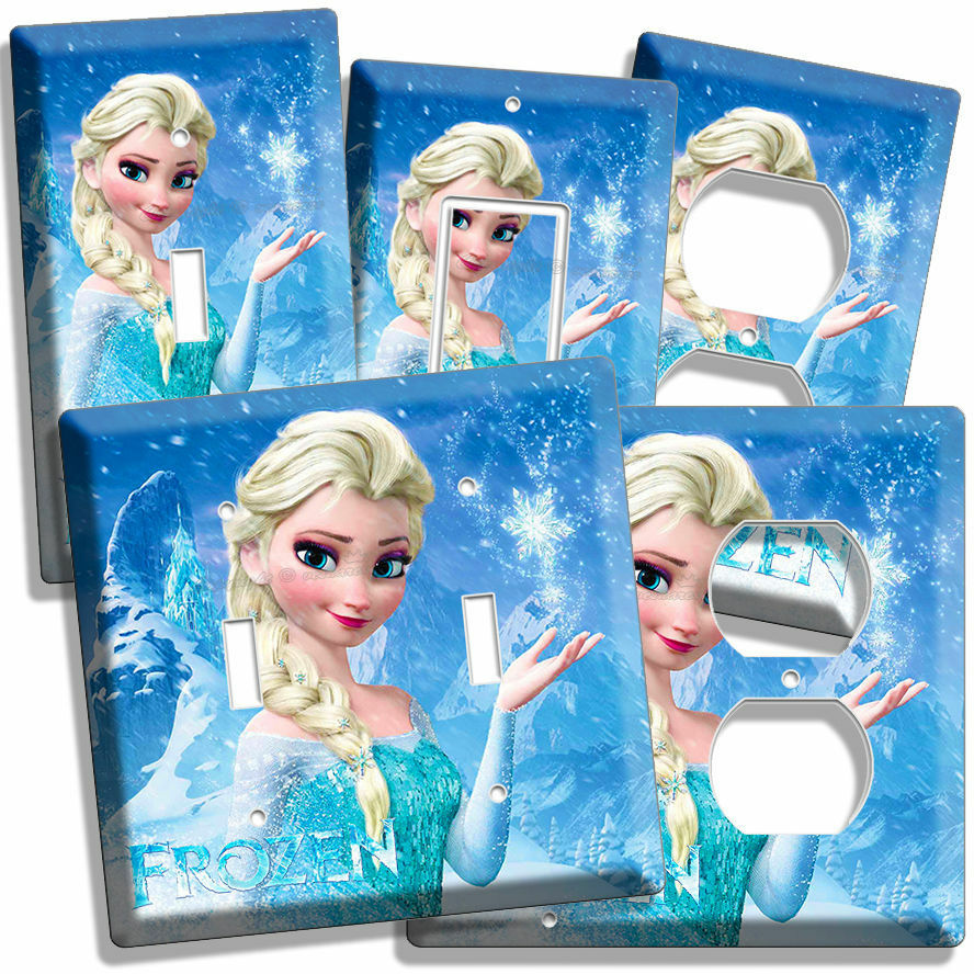 DISNEY FROZEN ELSA LIGHT SWITCH OUTLET PLATES LIVING ROOM ...