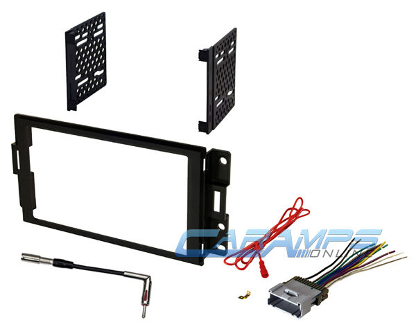 2004-2008 grand prix car stereo double 2 din dash install ... 2003 pontiac grand prix stereo wiring harness