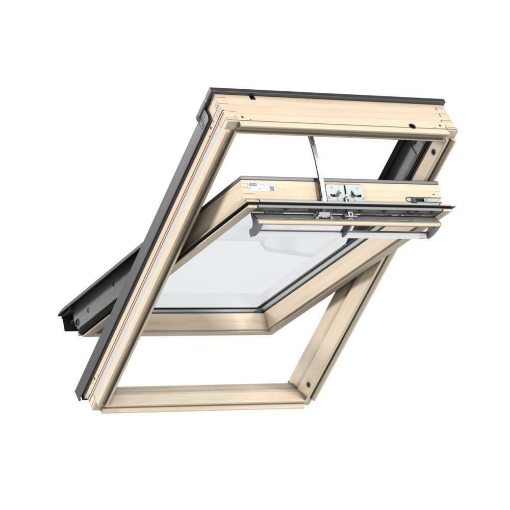 velux ggl 307021u sk06 1140 x 1180mm integra electric window pine finish ebay. Black Bedroom Furniture Sets. Home Design Ideas