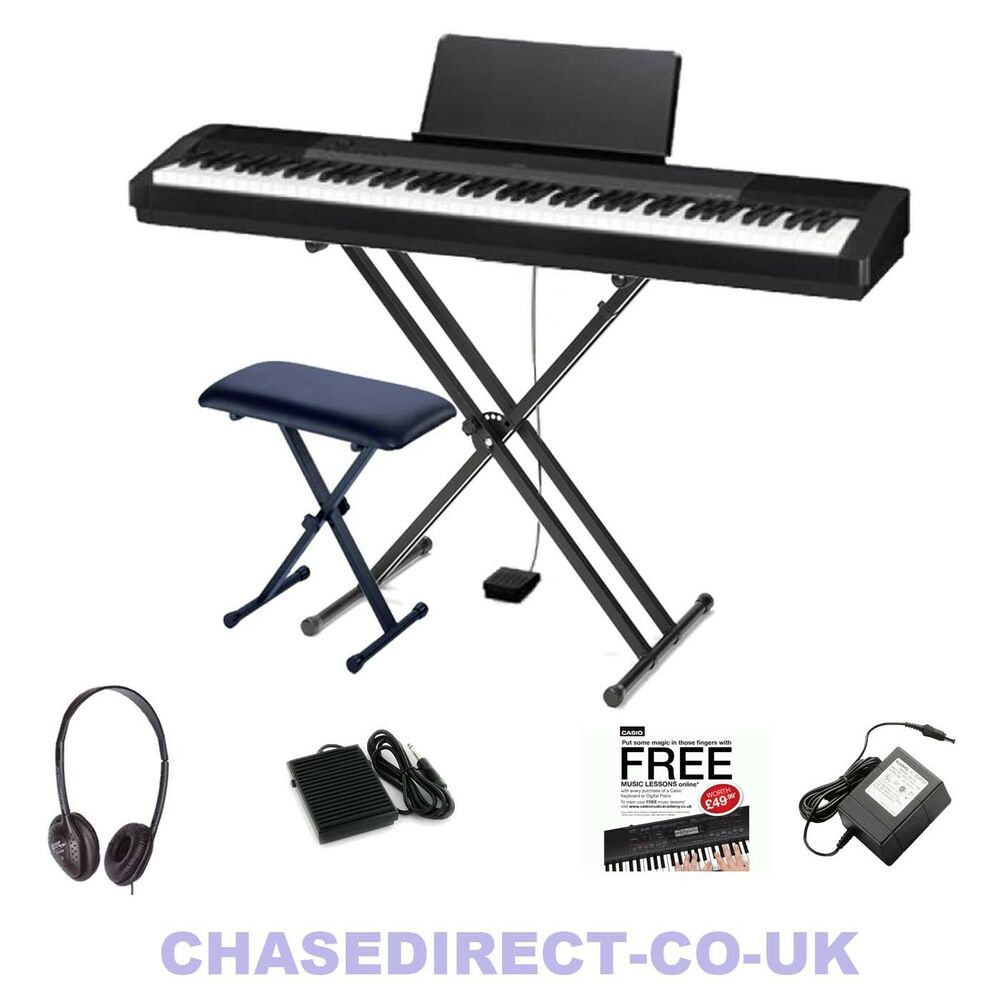 Casio cdp 130 digital piano portable stage 88 keys hammer fully weighted bundle ebay for Yamaha fully weighted keyboard