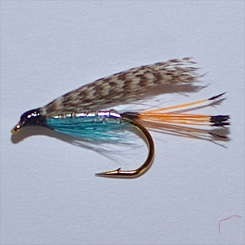 Teal blue silver trout grayling wet fly fishing flies for Ebay fly fishing