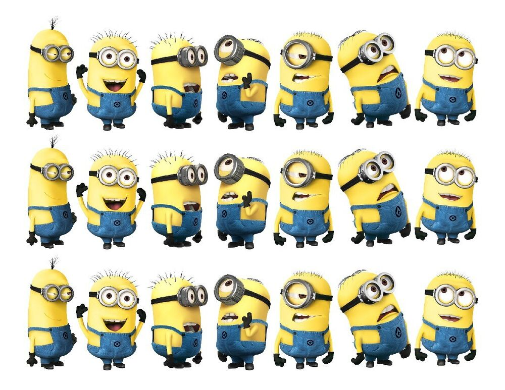 Despicable Me Minions Edible Cake Strips Topper Decorations EBay