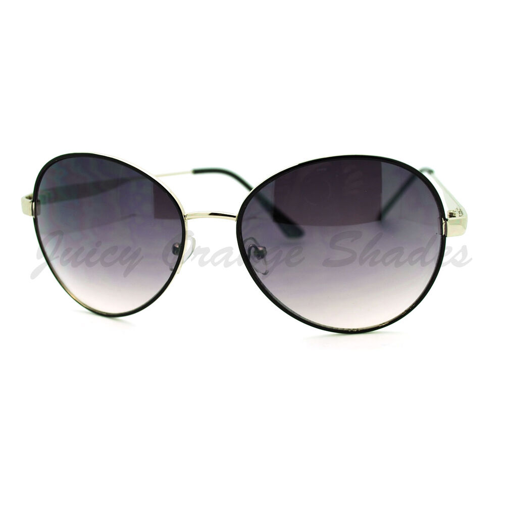 Thin Framed Fashion Glasses : Retro Fashion Sunglasses Thin Round Metal Frame Shades for ...