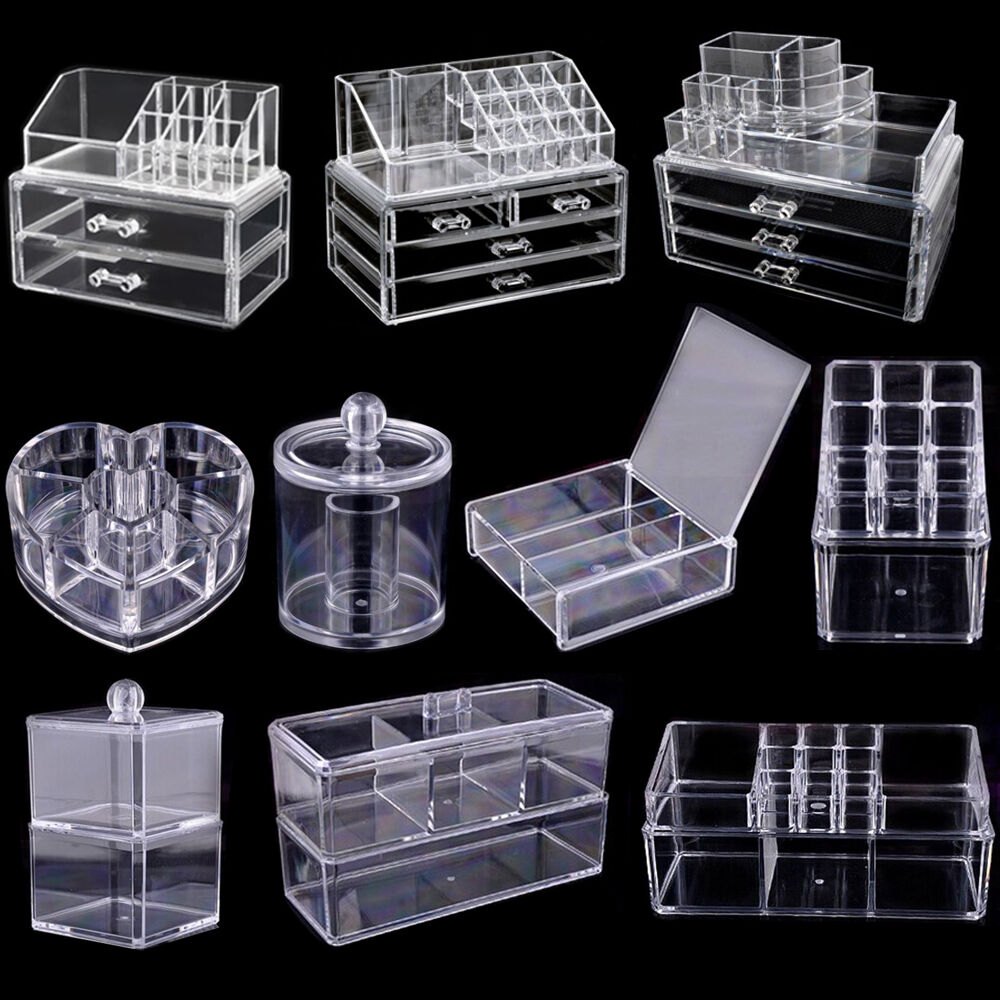 Acrylic Clear Make Up Organiser Cosmetic Display Jewellery