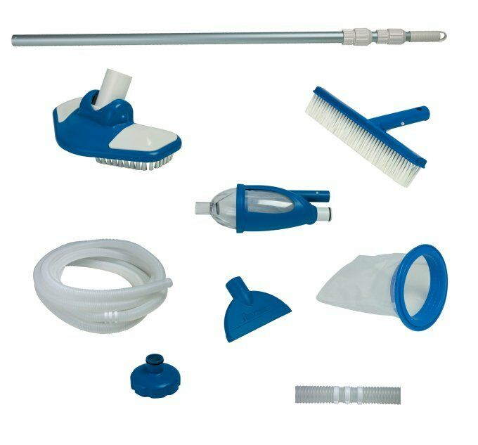 Intex Deluxe Cleaning Maintenance Swimming Pool Kit With Vacuum Pole 28003e Ebay