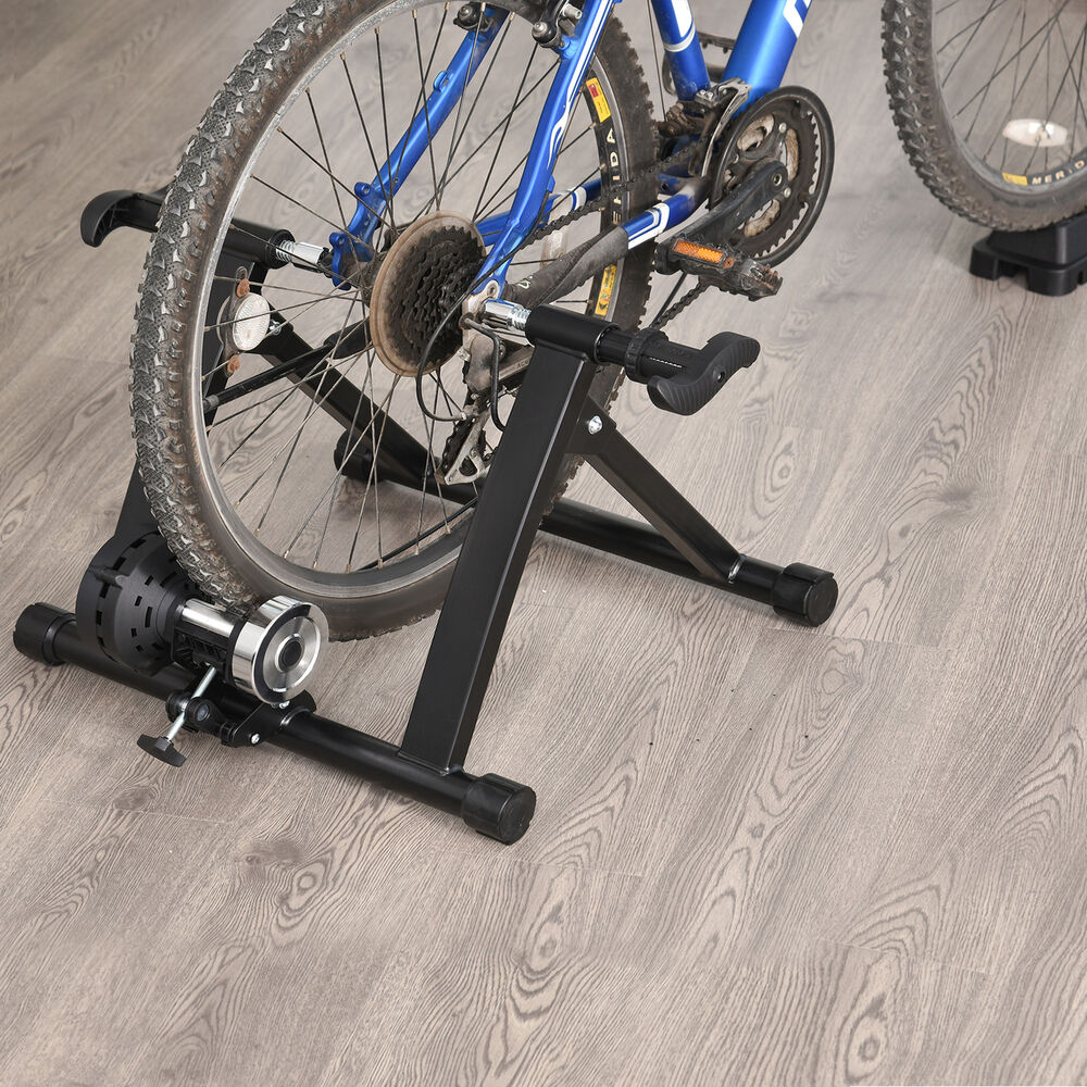 homcom bike trainer stand indoor bicycle exercise portable. Black Bedroom Furniture Sets. Home Design Ideas
