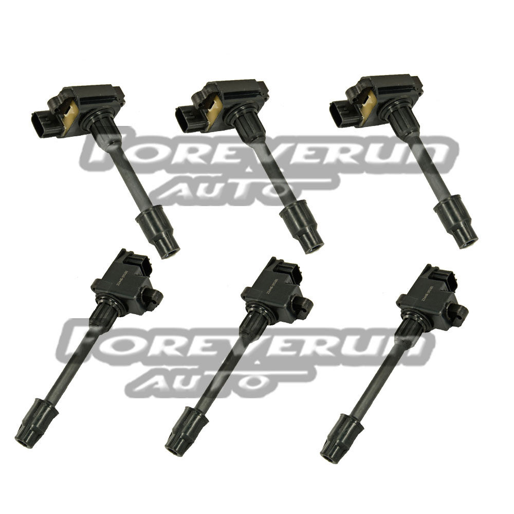 new ignition coils on plug pack set of 6 for nissan