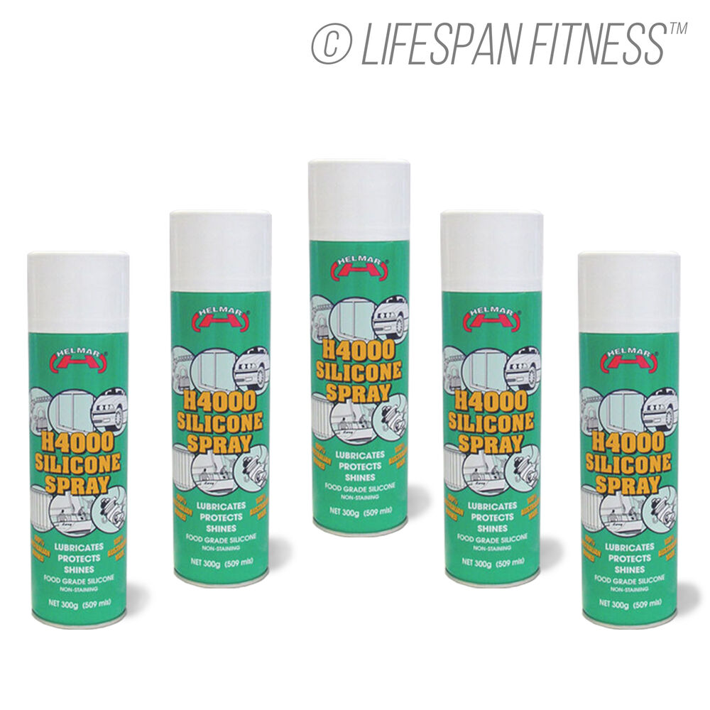 Treadmill Dry Lube: SILICONE SPRAY 5x PACK FOR TREADMILL LUBRICATION MULTI