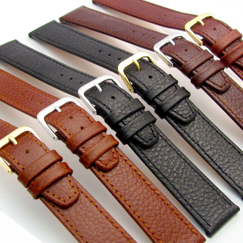 Genuine leather watch strap band by condor buffalo grain 16mm 18mm 20mm 086r ebay for Leather strap watches