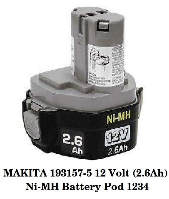 makita 193157 5 12 volt 2 6ah ni mh battery pod 1234 ebay. Black Bedroom Furniture Sets. Home Design Ideas