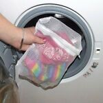 2 Laundry/wash Net Bags Mesh Tights Delicates Baby Clothes For Washing Machine