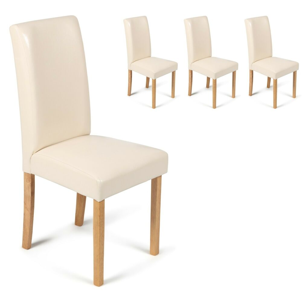 4 Cream Faux Leather With Oak Stained Leg Dining Chairs  : s l1000 from www.ebay.co.uk size 1000 x 996 jpeg 46kB