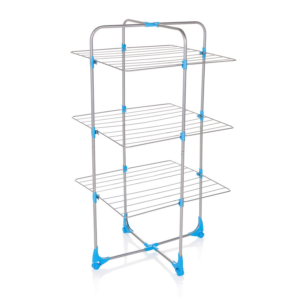 minky tower airer 15m silver blue free p p ebay. Black Bedroom Furniture Sets. Home Design Ideas