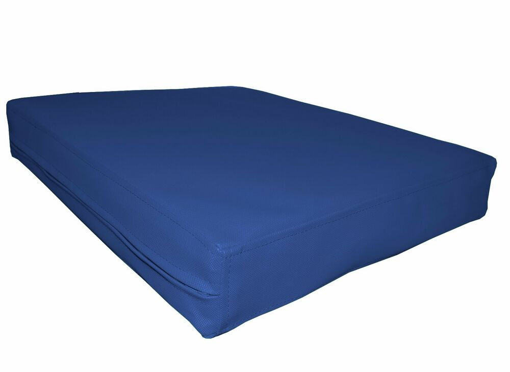pa807t blue water proof outdoor pvc 3d box sofa seat cushion cover custom size ebay. Black Bedroom Furniture Sets. Home Design Ideas