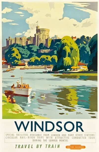 tx340 vintage windsor castle british railway travel poster re a3  a4