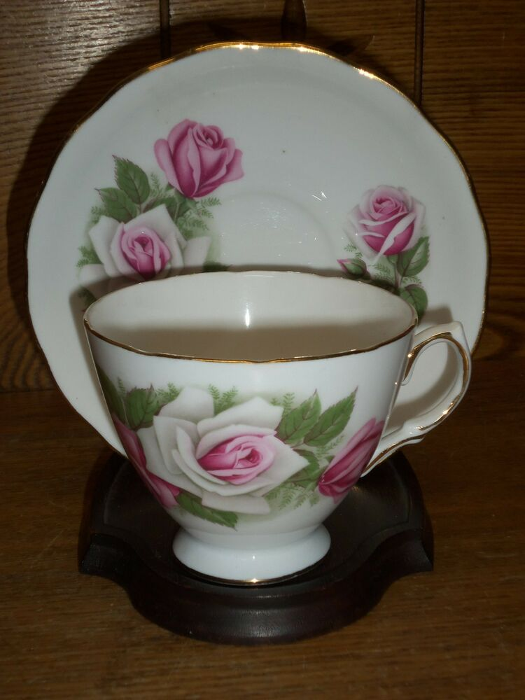 porcelain cup saucer royal vale ridgway bone china england ebay. Black Bedroom Furniture Sets. Home Design Ideas