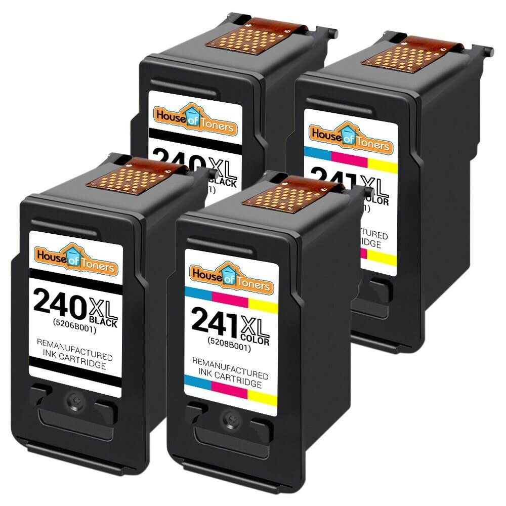 4pk pg 240xl cl 241xl ink for canon pixma mg2120 mg2220