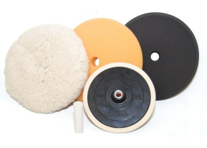 detailing buffing polishing pad kit set polish auto car ebay. Black Bedroom Furniture Sets. Home Design Ideas