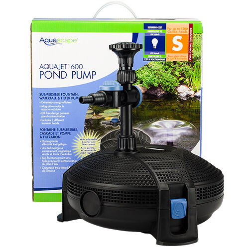 Aquascape 91014 aquajet 600 pond fountain pump for Outdoor pond filter pump
