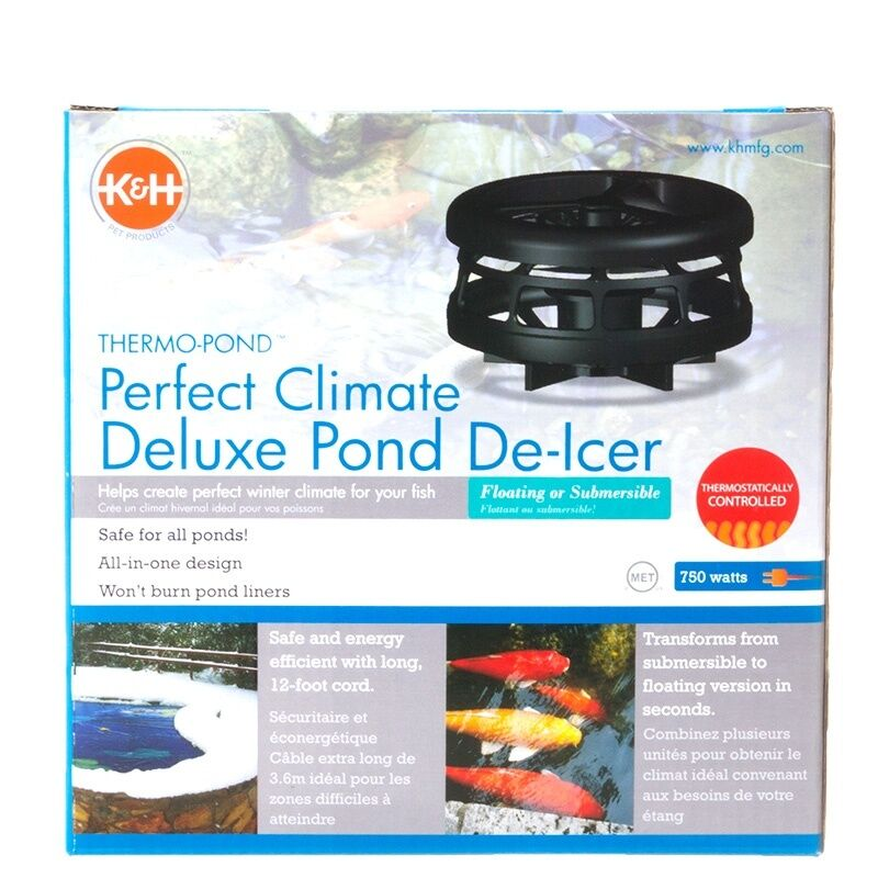 K Amp H Perfect Climate Deluxe Pond De Icer 750 Watt Water