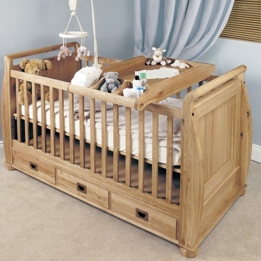 Felix Childrens Bedroom Furniture Oak Baby Cot Bed And